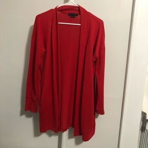 Long Red Open Cardigan - Sanctuary Small